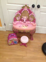 Princess vanity with magical wand
