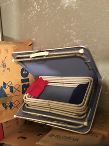 Vintage table valise pour camping