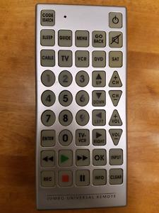Jumbo universal remote