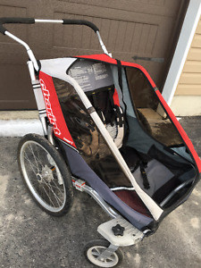 Double chariot jogging stroller sale or trade for single