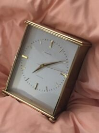 Vintage 1950's GARRARD Precision Swiss Move Solid & Heavy Brass Mantel Clock