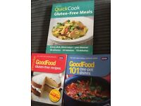 Three cook books for sale two gluten free