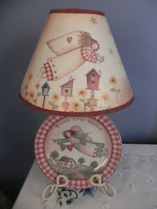 3 plate angel country wall decor and lamp Belleville Belleville Area image 2