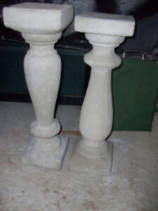 Two Concrete Pedestals