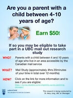 Parents! Take part in a Research Study