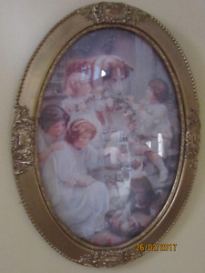 Prints in antique frames