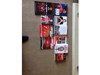 Manchester United autobiography annual programmes and book