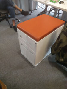 Filing Cabinet and Seat Double