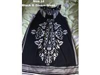 BLACK SHORT SLEEVELESS DRESS