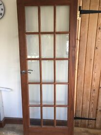 Internal glazed door