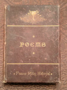 "1881 Book of ""Poems"" by Francis Ridley Havergal"