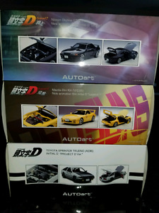 1:18 Diecast Autoart Initial D Skyline RX-7 AE86 Collection