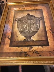 Framed Print - Roman Urn -- moving and downsizing