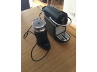 Krups Nespresso Pixie and Aerochinno Milk Frother