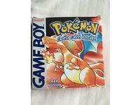 Pokemon red gameboy game
