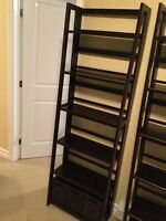 Pier 1 Imports bookcase with baskets