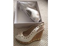 White wedges size 6 new
