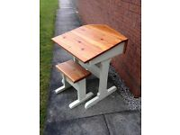 Shabby chic children's desk and stool