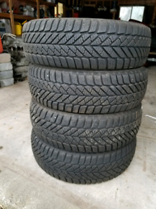 Various winter tires different sizes