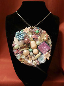 One of a Kind Upcycled Glam Necklaces
