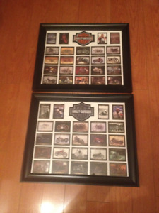 16 x 20 Framed Harley Davidson Collector Cards