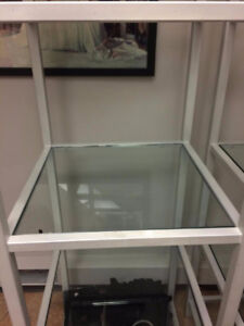 TWO INDUSTRIAL SHELVING DISPLAY UNITS