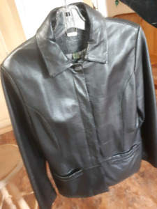 Women's Danier Black Leather Jacket  size XSmall-$25