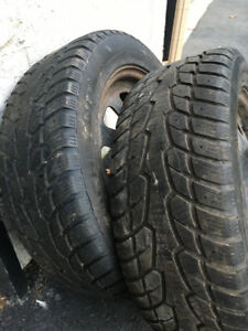 2 excellent winter tires 215 55 17 lots of 80% tread left