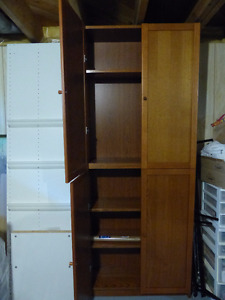 2 Enclosed Shelving wall units + tv/display stand
