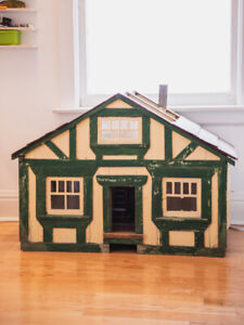Antique Wooden Dollhouse (or Cat House!)