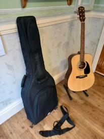 Fender Acoustic Six String Guitar. DG-60 NAT With Gig Bag.