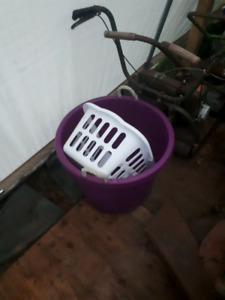 Plastic tote and basket