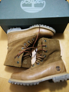 Women Timberland Authentic Fold Down Plaid Winter Boot