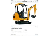 Mini digger with driver hire and construction services