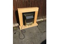 ELECTRIC OAK FIRE SURROUND PLACE WITH FIRE
