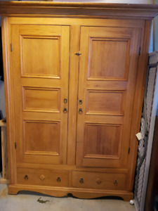 Antique Wardrobe Solid Wood