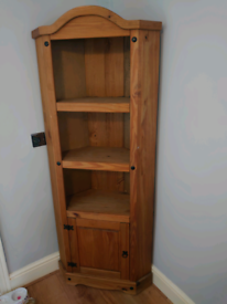 Corona Pine Corner Cabinet - collection