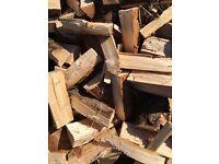 Seasoned softwood firewood