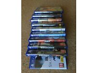 10 PS4 games + 2 blue ray film