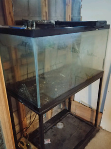 60 gallon fish tank and stand