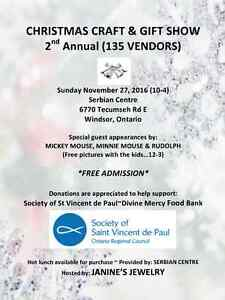 CHRISTMAS CRAFT & GIFT SHOW ~ 2nd Annual ~ Windsor, On