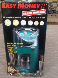 Easy Money II motorized Coin Bank with coin tubes - almost new