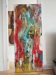"""Peinture artiste québecois Robert Massy """"The Pretty Girl"""""""