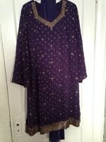Dark purple Indian outfit