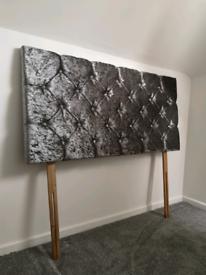 NEW Double Bed Soft Velvet Head Board