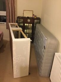 Single divan bed for sale, very good condition, cost £350 only used 4 months, sell £50