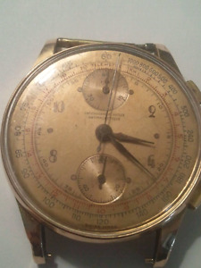 18 k gold mens watch chronograph