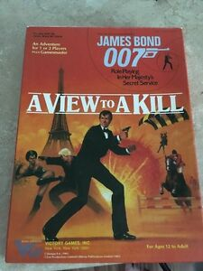 James Bond 007 A View To A Kill board game