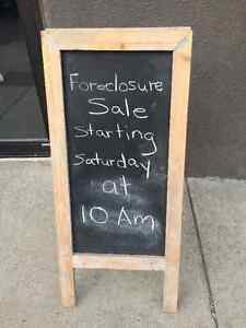 50% Off!  Foreclosure Sale at the old Sew & Home Location!