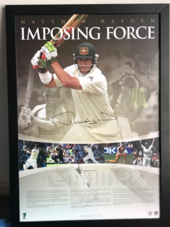 *MINT* Matthew Hayden Signed Limited Edition Imposing Force Print